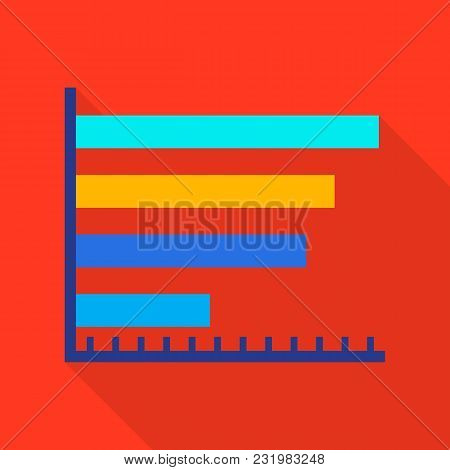 Column Diagram Icon. Flat Illustration Of Column Diagram Vector Icon For Web