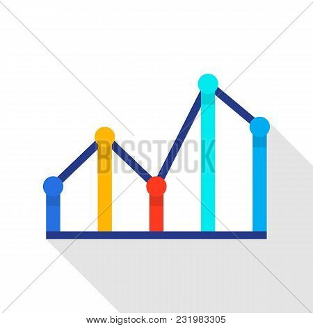 Financial Diagram Icon. Flat Illustration Of Financial Diagram Vector Icon For Web