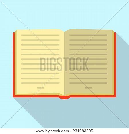 Opened Book Icon. Flat Illustration Of Opened Book Vector Icon For Web
