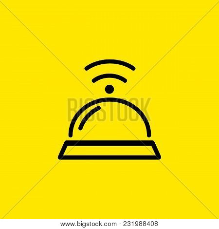 Icon Of Service Bell. Percussion, Ringing, Help. Hotel Concept. Can Be Used For Topics Like Receptio