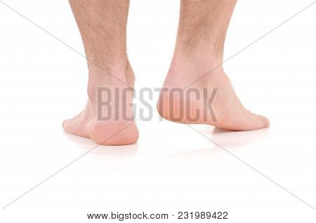 Man's  Feet. Care For Feet And Heels.