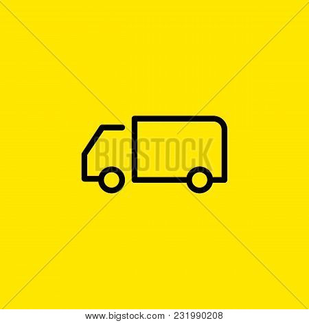 Line Icon Of Truck. Lorry, Cargo, Delivery. Transport Concept. Can Be Used For Topics Like Transport