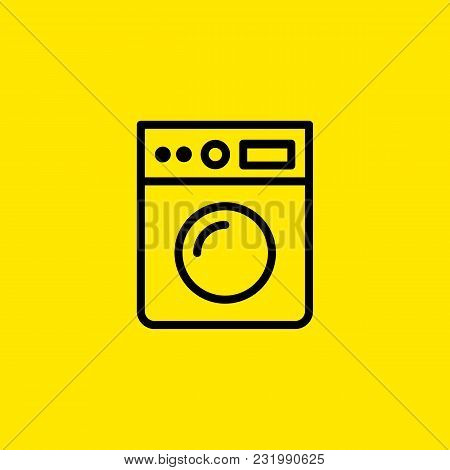 Icon Of Washing Machine. Clothes Washer, Hygiene, Routine. Appliance Concept. Can Be Used For Topics