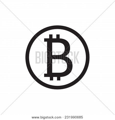 Bitcoin Sign Icon Internet Money.crypto Currency Symbol For Using In Mobile Applications Or Web Proj