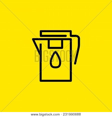 Icon of water filter. Cleaning water, removing undesirable chemicals, drop. Kitchen concept. Can be used for topics like drinking water, aqua, purification poster