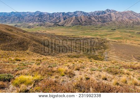 Aerial View Of Awatere Valley Near Molesworth Station, South Island, New Zealand