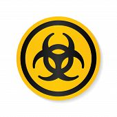 Biohazard Ionizing radiation logo warning attention icon. Hazard radioactive Poison symbol. Alert Flat Vector illustration. Attention sign with exclamation mark icon. risk sign vector illustration. poster