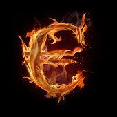 Fire euro symbol poster