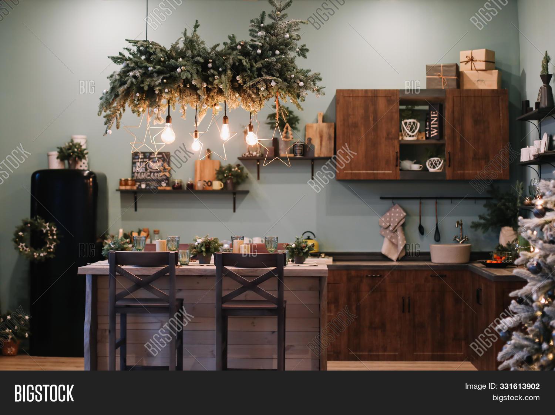 Festive Kitchen Image Photo Free Trial Bigstock