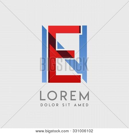 En Logo Letters With Blue And Red Gradation