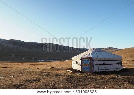 Mongolian Ger In Olkhon Region