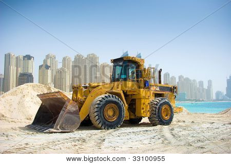 Construction tractor in Dubai