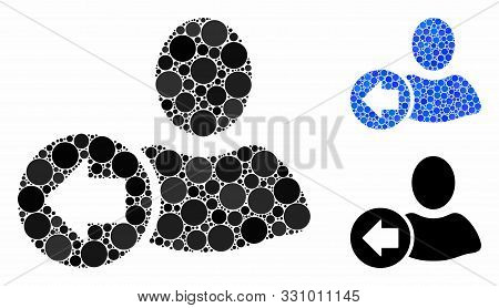 Previous User Mosaic Of Round Dots In Different Sizes And Color Tints, Based On Previous User Icon.