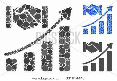 Acquisition Hands Growth Chart Composition Of Filled Circles In Variable Sizes And Color Tints, Base