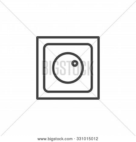 Dimmer Switch Line Icon. Linear Style Sign For Mobile Concept And Web Design. Electric Light Switch