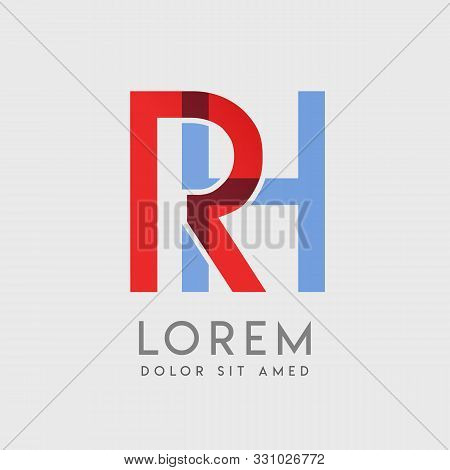 Rh Logo Letters With Blue And Red Gradation