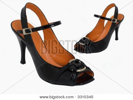 Ladies Designer Black High Heeled Shoes