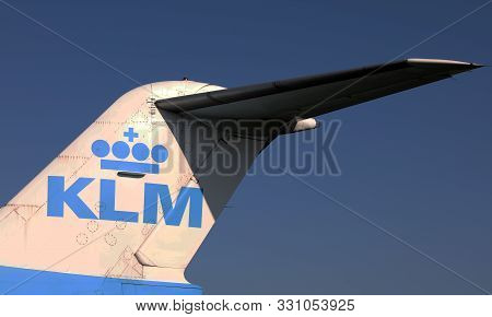 Tail Of An Klm Aircraf