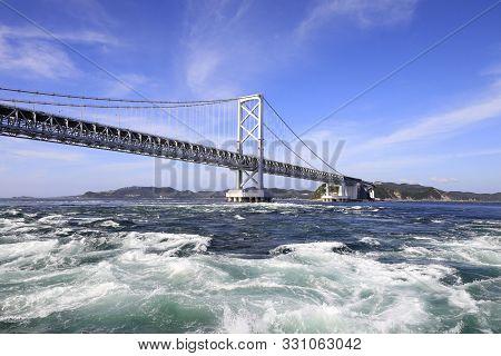 Naruto Whirlpools And Onaruto Bridge In Tokushima, Japan