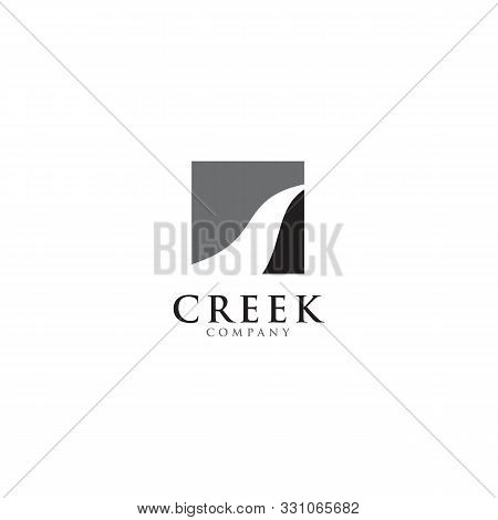 Creek And River Icon Logo Design Inspiration Vector Template