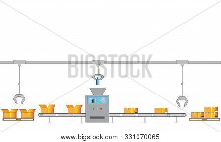 The Conveyor Automatic Packing Line, The Conveyor Automatic Product Packaging Line, Conveyor Automat