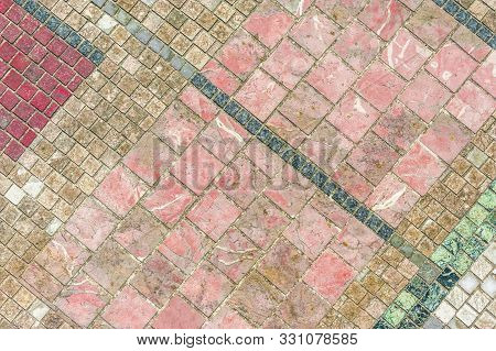 Background Of Marbled Cobblestones In Differed Colours