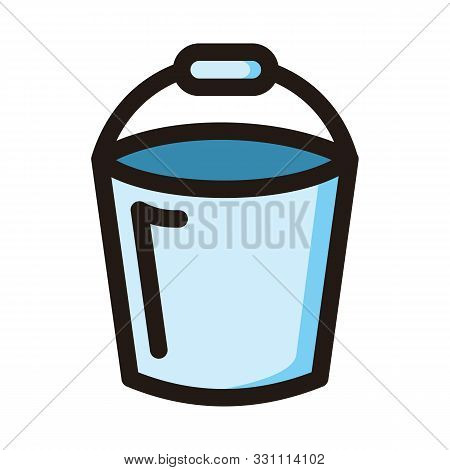 Bucket Icon Isolated On White Background From Construction Collection. Bucket Icon Trendy And Modern