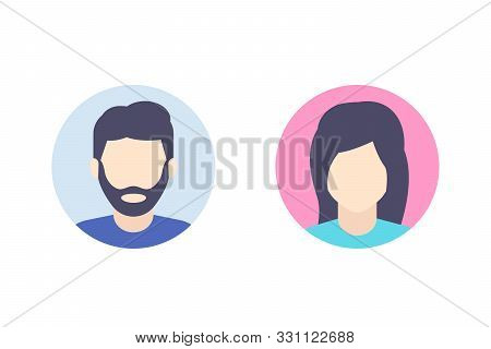 Avatars, Default Photo Placeholder, Man And Female Profile Pictures