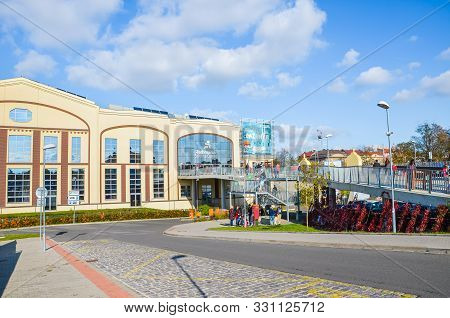 Plzen, Czech Republic - Oct 28, 2019: The Main Building Of Techmania Science Center In Pilsen, Czech