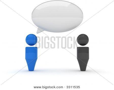 3D Web Icon - Dialog, Comments