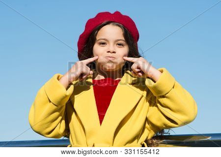 Silent As Fish. Aint Gonna Say Any Word. Small Girl Wear Fall Outfit Outdoors. Autumn Secrets. Farew