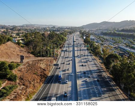 Aerial View Of The San Diego Freeway, Southern California Freeways, Usa