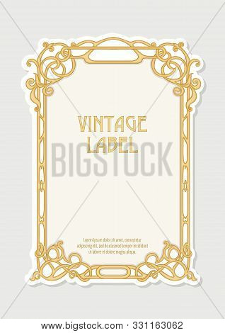 Label, Decorative Frame, Border. Good For Product Label. With Place For Text Colored Vector Illustra