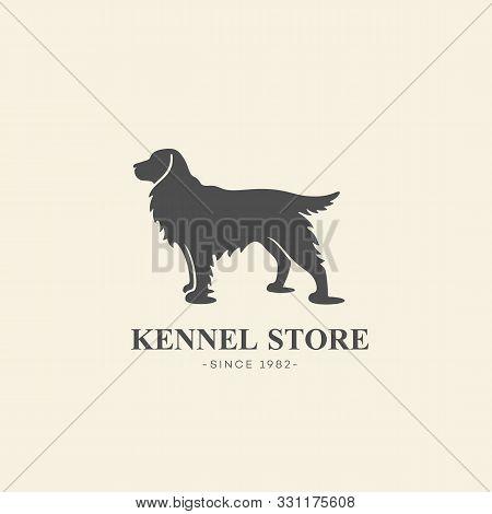 Simple Cocker Spaniel Dog Logo Design Template. Vector Illustration.