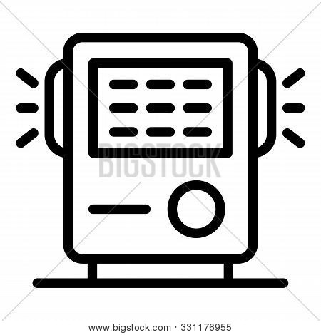 Air Filtration Device Icon. Outline Air Filtration Device Vector Icon For Web Design Isolated On Whi