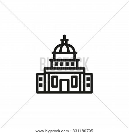 Government Building Line Icon. Building, Administration, Executive. Government Concept. Vector Illus