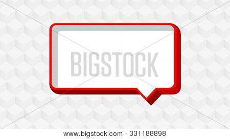 Red Dialog Frame For Copy Space, Speech Bubble Red, Speech Dialog Red Talk On Banner Modern Backgrou