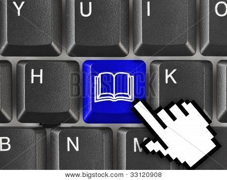 Computer Keyboard With Book Key