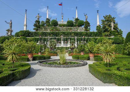 The Garden Of Bella Island On Lake Maggiore, Italy