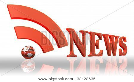 Rss News Logo Word