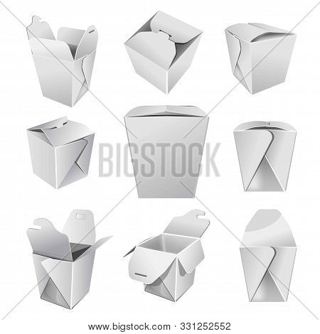 Chinese Food Box Or Cardboard Pack Takeaway Meals Container