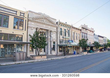Georgetown, Texas - 15th April 2019: South Austin Ave