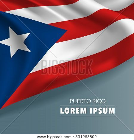 Puerto Rico Template Independence Day Greeting Card, Banner, Vector Illustration. Puerto Rican Natio