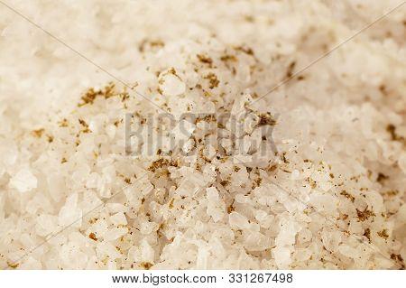 Granular Background Salt, White Crystalline Traditional Seasoning Culinary Base