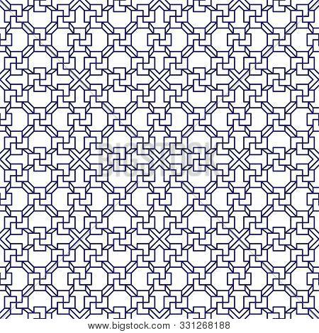 Asian Pattern. Asian Background. Modern Illustration. Seamless Tile. Seamless Fabric Texture Print.