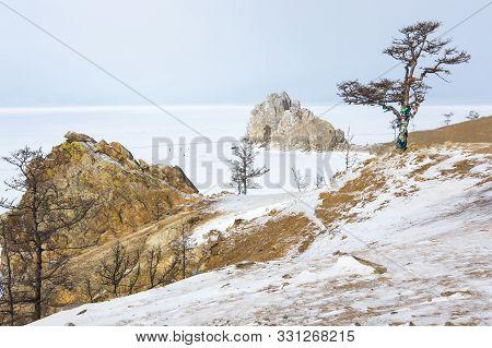The Coast Of Olkhon Island At Baikal Lake, Siberia, Russia