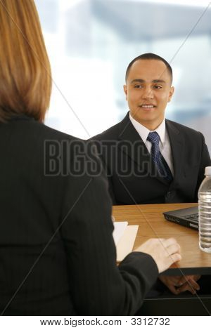 Business Team On Meeting