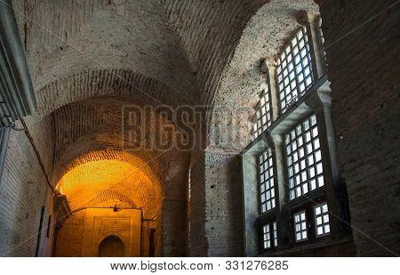Istanbul, Turkey - September 5th 2019. A Passageway Inside Ayasofia Or Hagia Sofia In Sultanahmet, I