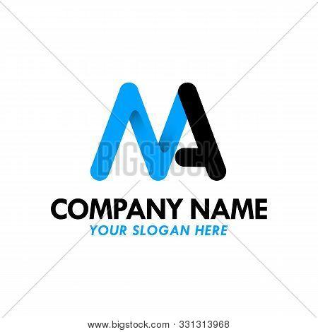Ma, Aa, M  Blue Black Logo Letter