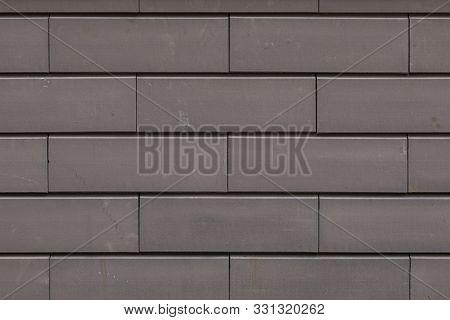 Close-up Of Wall Made Of Beton Bricks